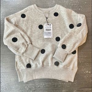 ZARA GIRLS POLKA DOT SWEATSHIRT